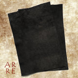Zwart leer, 20x30cm, achterkant