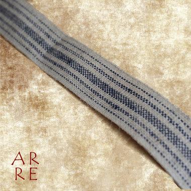 Weefband, blauw gestreept