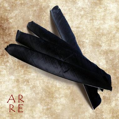 Veer, volle lengte, zwart