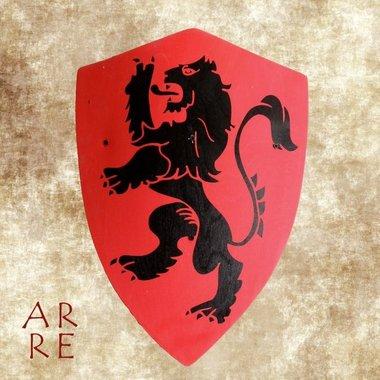kinderschild leeuw, rood