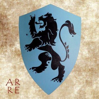 Kinderschild leeuw, blauw