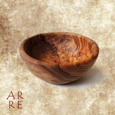 Houten kom, olijfhout, 12 cm