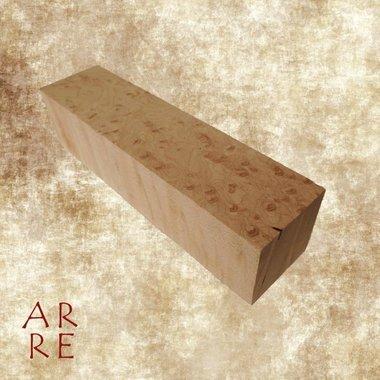 Gemoesteerd esdoorn, 4x4x15cm