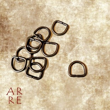 D-ring, antiek 10mm