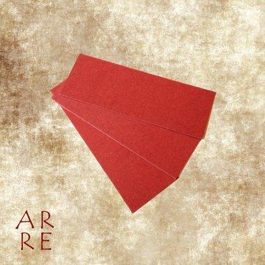 Fiberplaat, rood, 0,8mm, 4x12cm