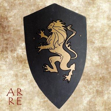 Kinderschild leeuw, Goud-zwart