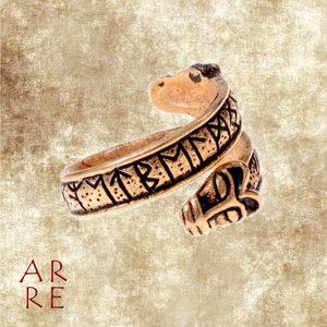 Ring met runen, brons