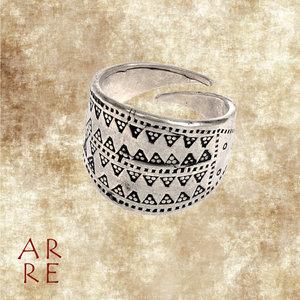 Vikingring, gestempeld, verzilverd