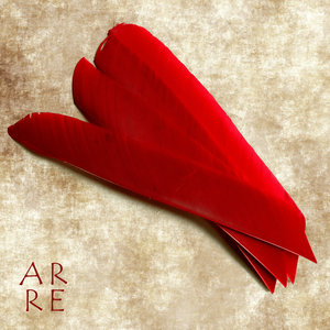 Veer, volle lengte, rood