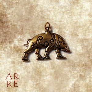 Hanger Keltisch Zwijn, brons