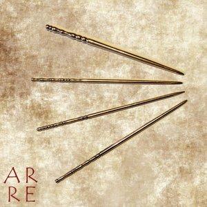 Romeinse haarpin, messing, overzicht
