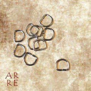 D-ring, zilver 10mm