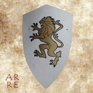 Kinderschild, wit met gouden leeuw